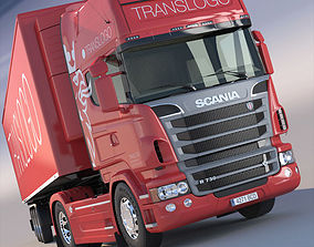 3D Scania R 730 V8 with refrigerated semitrailer