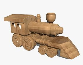 3D Wooden Toy Train transport