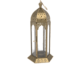 3D asset Moroccan Lantern 2 - high poly and low poly