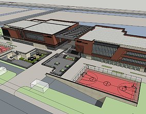 3D Gymnasium architectural design