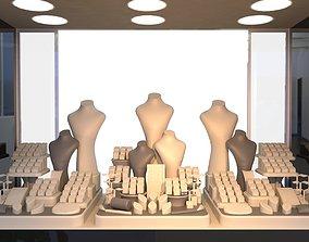 3D printable model rigged Window Display set