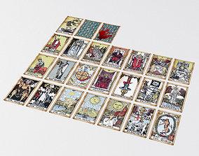 Old Tarot Cards - Major Arcana - 3D model