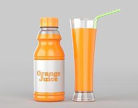 Juice Bottle 3D