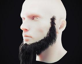3D asset Beard Low Poly 5