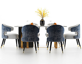 furniture 3D model Modern dining table and chair