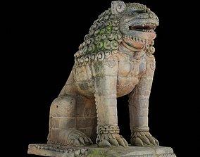 3D asset Lion guardian with 3 LOD - Nepal Heritage