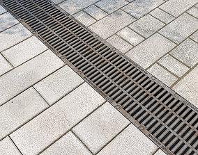 Standartpark storm grate and 2 types of paving 3D model