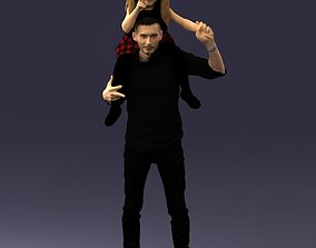 Man with a child 0137 3D model