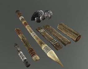 3D model Medieval Crafting Wood and Material