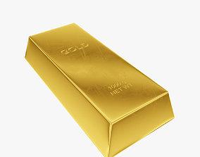 Ingot gold 3D asset