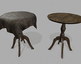 Table 3D model game-ready house
