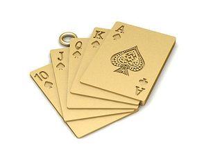 cards 3D print model Pendant