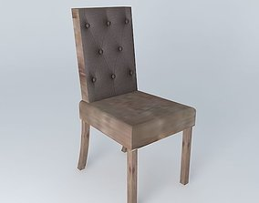 Taupe chair ELIZABETH houses the world 3D