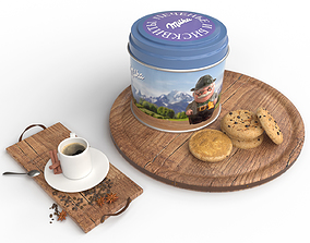 coffee and cookies 3D model space
