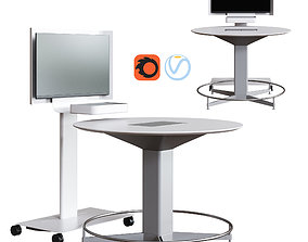 Steelcase - Media Scape Mobile and Round Table 3D