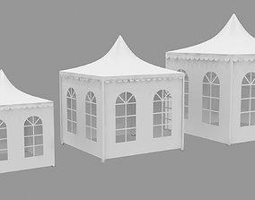 3D asset Meeting Ceremony Tent Outdoor Circle Window 3x3 2