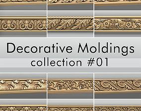 Decorative Moldings collection 01 3D