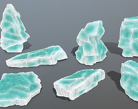 Ice Set rocks 3D model VR / AR ready