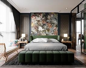 Bedroom tropical modern 3D model
