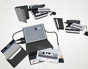 3D model realtime Tape Recorder set