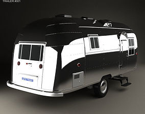 Airstream Flying Cloud Travel Trailer 1954 3D model
