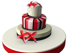 Weeding Cake 02 3D
