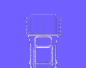 Student chair with protection 3D model