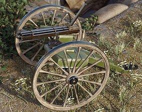 3D Historical Gatling Gun