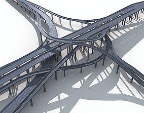 3D Highway Road Viaduct Flyover-09
