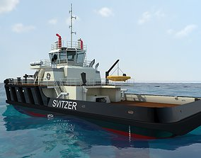 3D Svitzer tug boat