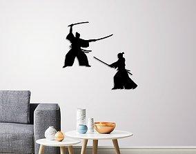 3D printable model Samurai warriors wall decoration