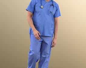 11028 Sahir - Medical Doctor standing paramedic 3D model