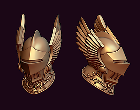warrior Knight winged helmet 3D printable model