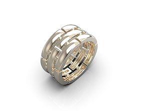 Stripes ring 3D print model