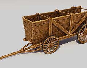 Cartoon Wagon 3D model game-ready