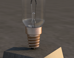 E14 format light bulb 3D asset realtime