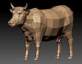VR / AR ready 3D COW - LOWPOLY