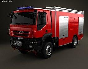 3D Iveco Trakker Fire Truck 2-axis 2012