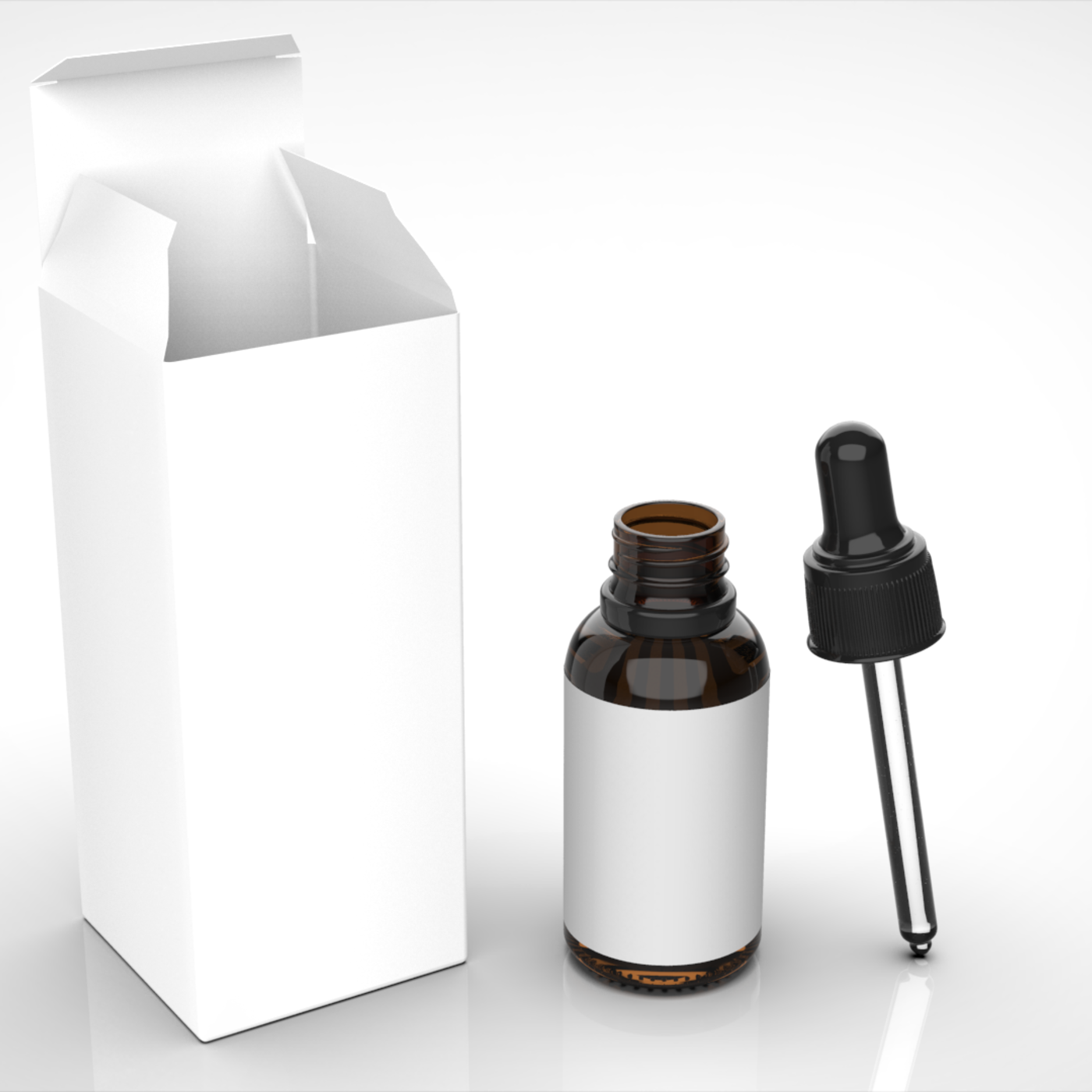 Glass Bottle Dropper with Box - 30ml
