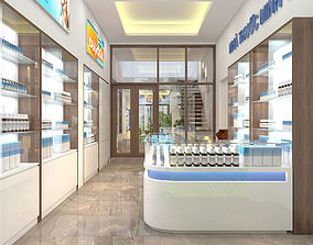 3D Pharmacy interior
