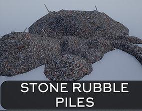 3D asset Stone Rubble Piles