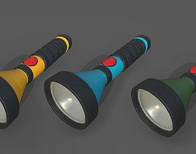 battery 3D model VR / AR ready Flashlight
