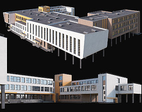 3D model Modern school building