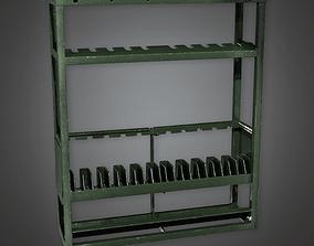Military Barracks Gun Rack 02 - MLT - PBR Game 3D asset 1
