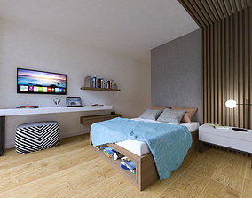 3D model 3drendering Teeange Bedroom