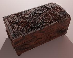 Wooden Casket - Jewelry Box 3D asset