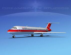 Douglas DC-9-30 US Air 3D model