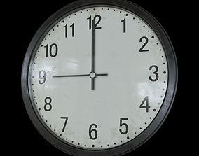 3D asset Wall Clock