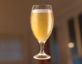 Beer glass drunk 3D