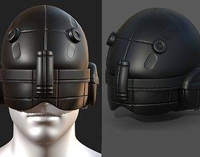 VR / AR ready Helmet scifi military combat 3d model 4